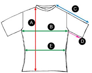 Schemat wymiarowania bluz