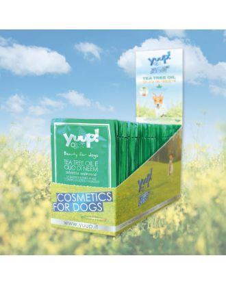 Yuup! Tea Tree and Neem Oil Wipes - chusteczki odstraszające insekty, owady i pasożyty