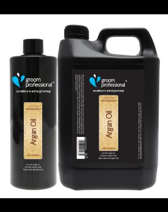 Groom Professional Argan Oil Shampoo - nawilżający szampon z olejkiem arganowym, do włosów suchych, koncentrat 1:10