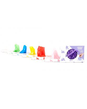 Show Tech Plastic Wraps 100 sztuk - papiloty foliowe wielokrotnego użytku, 15x30cm