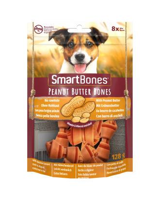 Smart Bones Peanut Butter Bones Mini 8szt. - przysmaki dla małych psów, z masłem orzechowym