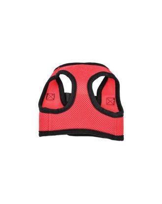 Doogy Air Mesh Harness - lekkie, przewiewne szelki dla psa, czerwono-czarne, rozmiar M