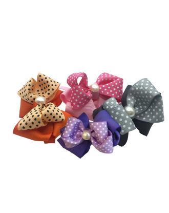 Groom Professional Glamour Pearl Big Bow Collar 10 sztuk - ozdobne kokardki - obróżki dla psa, z perłą