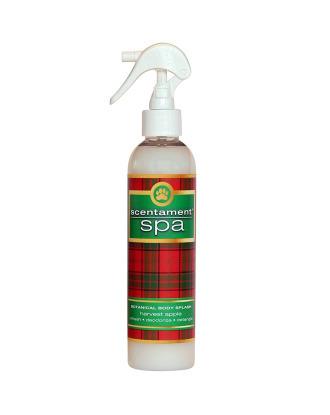 Best Shot Scentament Spa Harvest Apple Spray 236ml - odżywka zapachowa o działaniu antystatycznym i ułatwiającym rozczesywanie włosa, zapach korzenny z nutami jabłka i cedru