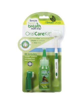 Tropiclean Oral Care Kit - zestaw do czyszczenia zębów dla ras małych
