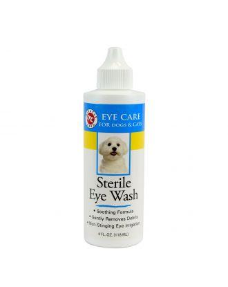 Miracle Care Sterile Eye Wash 118ml - sterylny płyn do przemywania oczu psa i kota