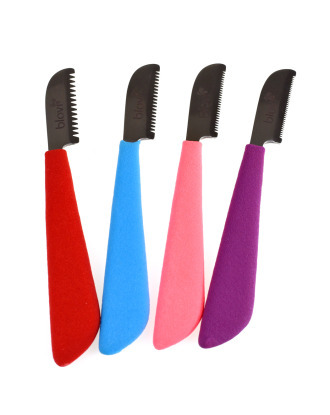 Blovi Professional Rubber Left Stripping Knife - profesjonalny trymer z wygodną podgumowaną rękojeścią, stal japońska - leworęczny