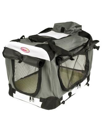 Blovi Dog Soft Crate - wysokiej jakości, materiałowy transporter dla zwierząt, szary