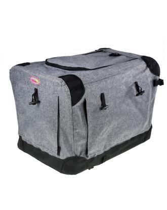 Blovi Dog Soft Crate - wysokiej jakości, materiałowy transporter dla zwierząt, grafitowy