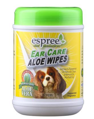 Espree Ear Care Aloe Wipes 60szt - chusteczki do czyszczenia uszu