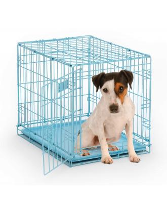 MidWest iCrate - klatka dla psa o wymiarach 61x46x48cm, niebieska