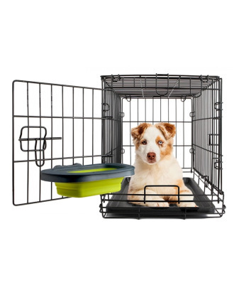 Dexas Collapsible Kennel Bowl Large 590 ml - składana, silikonowa miska do klatki, fioletowa
