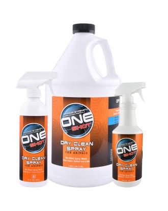 One Shot Dry Clean Spray Shampoo - profesjonalny szampon na sucho dla zwierząt, eliminujący brzydkie zapachy