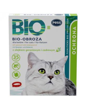 Pess Bio-Obroża Cat 35cm - obroża przeciw insektom dla kotów, z naturalnymi olejkami eterycznymi