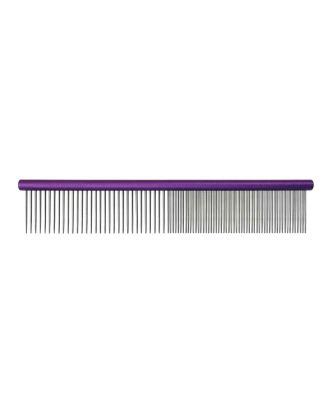 Grzebień metalowy Groom Professional 25cm - mieszany rozstaw ząbków 50/50 fioletowy