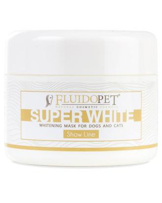 FluidoPet Super White Whitening Mask 100ml - profesjonalna maseczka wybielająca szatę dla psów i kotów wystawowych