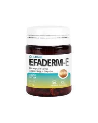 Eurowet Efaderm-E 60kaps. - suplement diety poprawiający kondycję skóry i włosów, dla psów