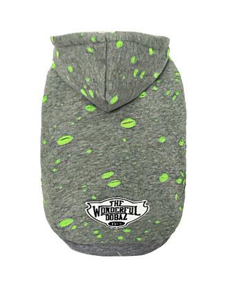Dobaz wygodna bluza z przetarciami, zielona