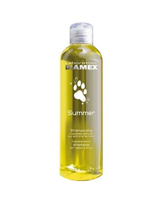 Diamex Summer - hypoalergiczny szampon do wszystkich rodzajów włosów, o zapachu melona, koncentrat 1:8