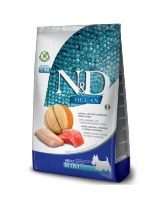 Farmina N&D Ocean Salmon & Cod Adult Mini - karma dla dorosłych psów małych ras, z łososiem i dorszem
