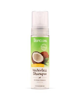 Tropiclean Hypoallergenic Waterless Shampoo 220ml - hypoalergiczny, suchy szampon dla psów i kotów