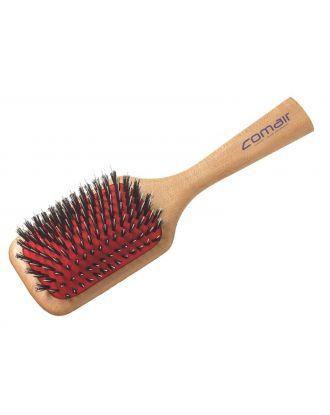 Comair Wooden Paddle Brush 21,5cm - mała szczotka do włosów normalnych i grubszych, z włosiem naturalnym i nylonem