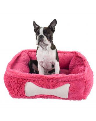 Blovi Bed Fluffy Bone Fuchsia - mięciutkie, puszyste i relaksacyjne legowisko dla psa, fuksja