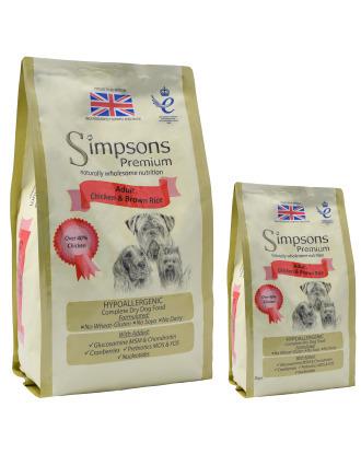 Simpsons Premium Adult Chicken & Brown Rice - karma dla dorosłych psów, kurczak i brązowy ryż