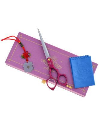 """Madan Straight Pet Grooming Scissors 6,5"""" - profesjonalne, ultralekkie nożyczki proste z japońskiej stali nierdzewnej, aluminiowa rękojeść"""