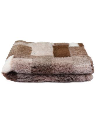 Blovi DryBed VetBed A+ - antypoślizgowe posłanie, legowisko dla zwierząt, beżowa/brązowa krata (patchwork)