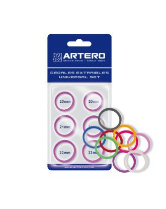 Artero - zestaw 6 wymiennych ringów do nożyczek, pomarańczowe