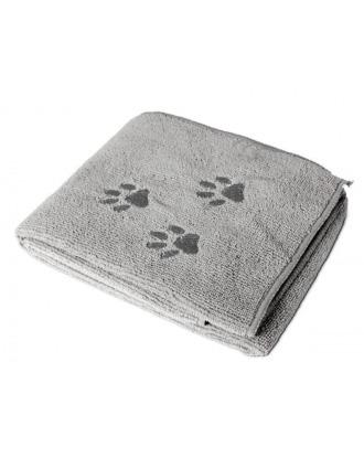 Flamingo Microfiber Towel 50x80cm - ręcznik z mikrofibry do kąpieli zwierząt, szary