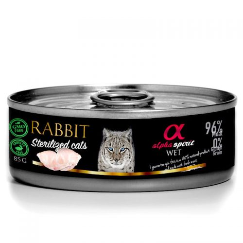 Alpha Spirit Rabbit Sterylized Cats 85g