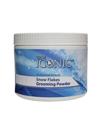 True Iconic Snow Flakes Powder 250ml - puder groomerski miękki