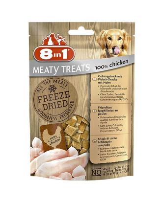 8in1 Meaty Treats Chicken 50g - liofilizowany przysmak zawierający 100% piersi z kurczaka