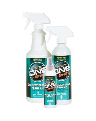 One Shot Deodorizing Spray - profesjonalny preparat eliminujący brzydkie zapachy z sierści zwierząt i ich otoczenia (do ubrań, kuwet, klatek, auta itp.)