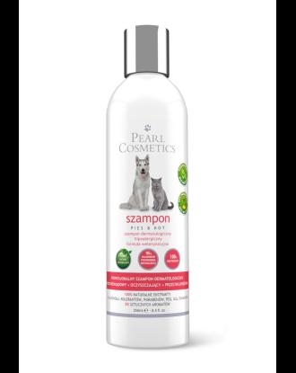 Pearl Cosmetics Shampoo SLS Free 250ml - oczyszczający szampon dermatologiczny z naturalnymi wyciągami roślinnymi, dla psa i kota