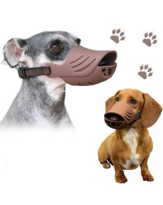 Artero Silicone Muzzle Cover Brown - wygodny, regulowany, silikonowy kaganiec dla psa, brązowy