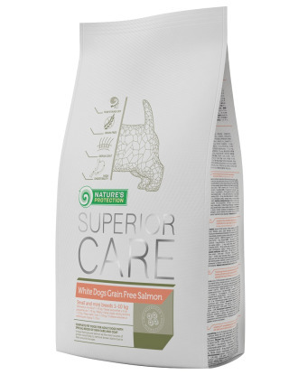 Nature's Protection Superior Care White Dogs Grain Free Salmon - Karma dla białych psów ras małych z łososiem