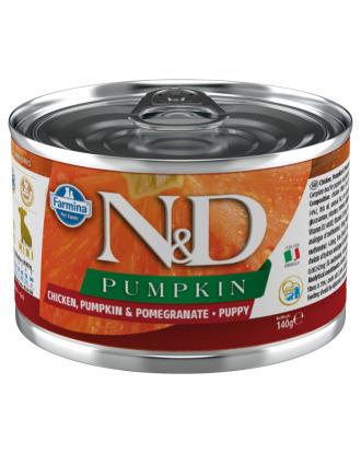 Farmina ND Chicken, Pumpkin & Pomegranate Puppy - pełnowartościowa, bezzbożowa karma dla szczeniąt oraz suk ciężarnych i karmiących, z kurczakiem, dynią i granatami