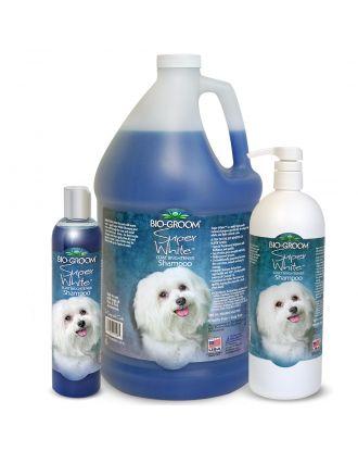 Bio-Groom Super White Shampoo - szampon rozjaśniający biały kolor sierści
