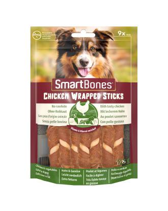 SmartBones Chicken Wrapped Sticks Mini 9szt. - przysmaki dla małych psów, z kurczakiem i warzywami