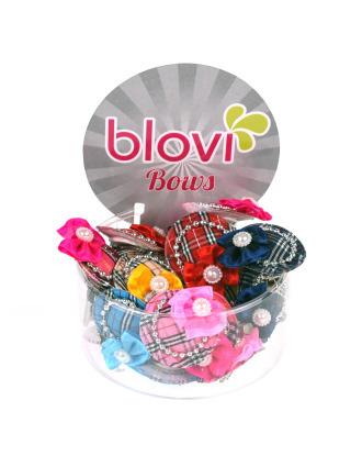 Blovi Hats Clip 25 sztuk - kolorowe spinki do włosów kapelusze w kratkę
