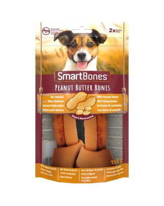 SmartBones Peanut Butter Bones  Medium 2szt. - przysmaki dla średnich psów, z masłem orzechowym