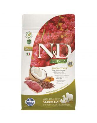 Farmina Quinoa Skin & Coat Duck Adult All Breeds - pełnowartościowa bezzbożowa karma dla psów z alergiami skórnymi, z kaczką i komosą ryżową