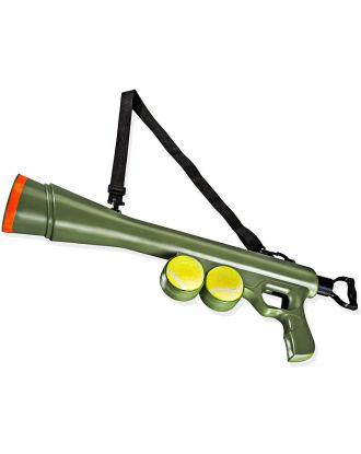 Flamingo Bazooka Tennisbal Shooter - wyrzutnia piłek tenisowych dla psa, zasięg 20m