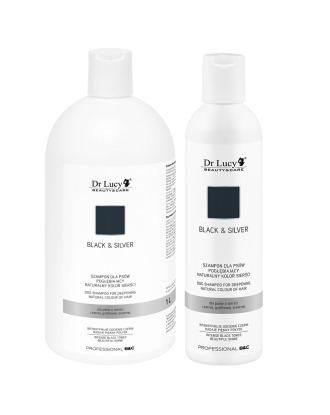 Dr Lucy Black/Silver Coat Shampoo - szampon intensyfikujący czarny i ciemny kolor szaty, koncentrat 1:7