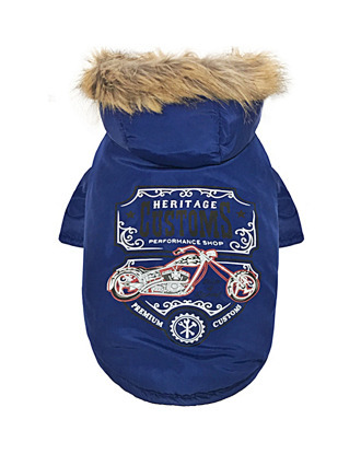 Dobaz zimowa kurtka dla psa, niebieska