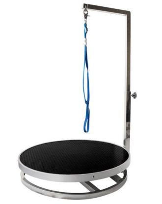 Obrotowa nakładka Vivog na stół, do pielęgnacji małych zwierząt, średnica 70cm, blat czarny
