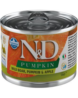 Farmina N&D Pumpkin, Boar & Apple Adult - pełnowartościowa, bezzbożowa karma dla dorosłych psów, z dynią, dzikiem i jabłkiem